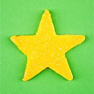 Star sugar cookie with decorative icing