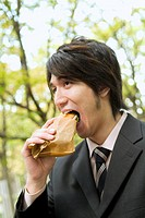 The Businessman Who Eats Sandwich