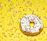 Single Doughnut with Sprinkles