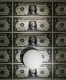 Medicine Pill on American Currency