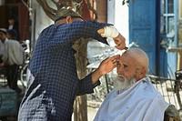 barbiere, xinjiang, cina, asia