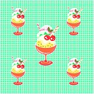 Indoors, wallpaper, background, cup, icecream, design arts, pattern (thumbnail)