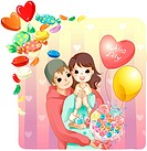 Affection, lover, love, girl friend, boy friend, couple (thumbnail)