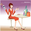table, cellular phone, communication, mobile, cell phone, mother