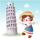 tourist attractions, tourism, sightseeing, national flag, map, italy