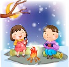 Couple, snow, boy, girl, chirstmas, child (thumbnail)