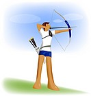 Competition, player, athlete, Olympic games, Western-style archery, Olympic (thumbnail)
