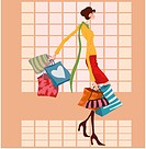 Gift, winter, shopping, woman, human, outdoors, season (thumbnail)