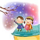 holding hands, snow, dating, boy, girl, child