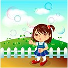 fence, sprout, hair band, casual wear, bud, outdoors
