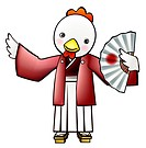 Pose, anthropomorphic, folding fan, holding fan, traditional japanese dress, posed, japan (thumbnail)