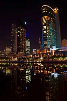 Yarra River at night, Melbourne, Australia