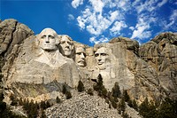 Presidential sculpture at Mount Rushmore National Monument, South Dakota