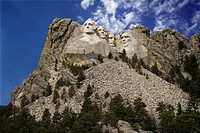Presidential scuplture at Mount Rushmore National Monument, South Dakota