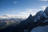 Mont Blanc on border of France and Italy, The Alps, Europe