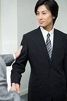 Japanese Businessman Shaking Hands