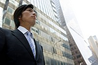 Young Businessman In front of a Building