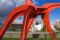 Eagle sculpture by Alexander Calder, Olympic Sculpture Park, Seattle, Washington State, USA