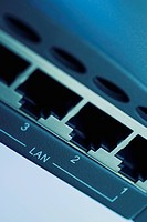 Close_up of a lan device