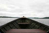 Båttur Med Träbåt Över Sjön Virisen 2005_08_02, Close_Up Of Boat In River