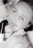 BB _ Delivery, Close_Up Of Woman Wearing An Oxygen MaskB/W