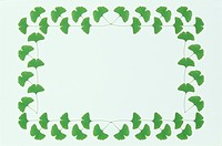 The Square Frame Of Green Leaves