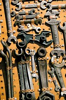 Antique tool collection, wrenches. Belleville, Ontario, Canada