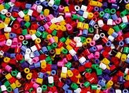 Plastpärlor, Close_Up Of Plastic Beads