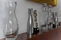 Showpieces on a shelf