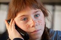 Girl on the telephone