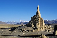 Landscape scenery with ruin Tibet