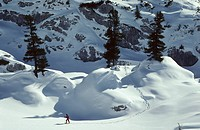 Snowshoeing in the Rofan mountains Austria