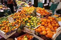 Citrust fruits at market stand