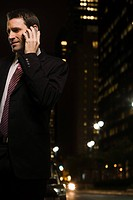 Businessman making a telephone call