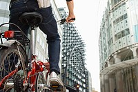 Cyclist in city (thumbnail)