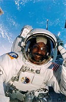 Spacewalk. Astronaut Winston E. Scott performs a spacewalk during a Space Shuttle Mission. A spacewalk is also known as ExtraVehicular Activity EVA. A...