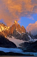Sunrise over Cerro Torre in Los Glaciares national park Argentina
