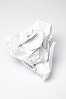 Rumpled sheet of paper
