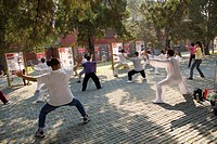 People playing taichi at Temple of HeavenTiantan Park, Beijing, China