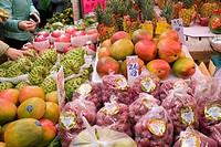 Fruit market at Quarry Bay, Hong Kong