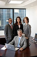 Portrait of Four Businesspeople in Office