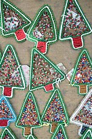 Beaded Christmas Tree Decorations. nr Empangeni, Kwa_Zulu Natal Province, South Africa