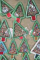 Beaded Christmas Tree Decorations. nr Empangeni, Kwa_Zulu Natal Province, South Africa