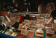 REPTILE SKIN PRODUCTS: various items for sale in Tana Market. Madagascar