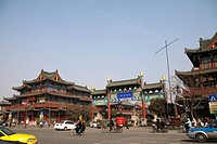 Capital of Song Street in front of the Longting Dragon Pavilion, Kaifeng, Henan Province, China