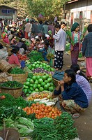 Fruit and vegetable market, Bagan, Burma, Pagan, Myanmar