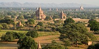 View over Pagodas and temples of Bagan, Burma, Pagan, Myanmar