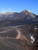 South East crater, at Volcano Etna, Sicily, Italy