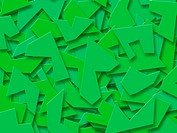 Green Abstract Shapes