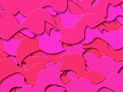 Pink Abstract Shapes